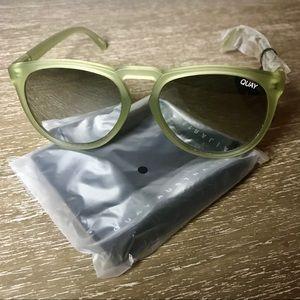 Olive Green Quay Sunglasses